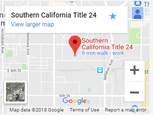 Map of Socal Title 24